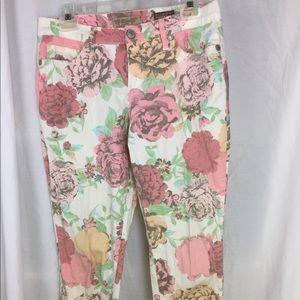 """Nine West """"vintage"""" Matchstick floral jeans 29/8R"""